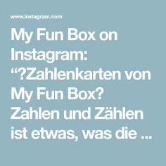 """My Fun Box on Instagram: """"🔢Zahlenkarten von My Fun Box🔢  Zahlen und Zählen ist etwas, was die Kinder schon sehr früh interessiert☺️ Mit den Zahlenkarten von My Fun…"""" Box, Instagram, Not Interested, Numbers, Game, Studying, Children, Snare Drum, Boxes"""