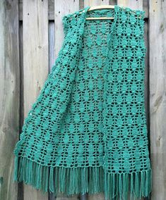 Crochet Waistcoat, Crochet Jacket, Crochet Cardigan, Diy Crafts Crochet, Crochet Home, Crochet Clothes, Diy Clothes, Crochet Designs, Crochet Patterns