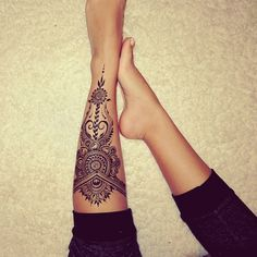 of foot tattoo Leg Henna, Henna Ink, Hand Henna, Body Art Tattoos, Hand Tattoos, Sleeve Tattoos, Tatoos, Henna Tattoo Designs, Tattoo Ideas