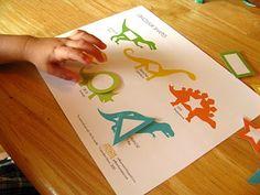 Printable dinosaur shapes