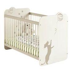 Lit à barreaux 60 x 120 Blanc KITTY. Le lit bébé 60 x 120 cm KITTY s'adaptera au sommeil et à la sécurité de l'enfant ainsi qu'au confort des parents avec ses deux hauteurs ré… Voir la présentation