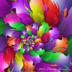 bright and bold blended colors