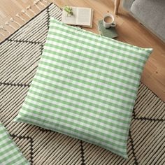 Color of the Year Large Greenery and White Gingham Check Plaid . – year, 2017, greenery, white, gingham, check, plaid, pattern, pale green, light green, soft green, bright green fresh, fresh green, color of the year, bright green, green, light, pale, soft, fresh, natural, nature, pantone, pa… • Millions of unique designs by independent artists. Find your thing. Floor Pillows, Accent Pillows, Throw Pillows, Fresh Green, Bright Green, Gingham Check, Color Of The Year, Pantone, Greenery