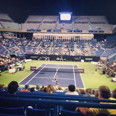 """@katiejohnstonee's photo: """"Bartoli vs Errani #newhavenopen #yale #tennis"""""""