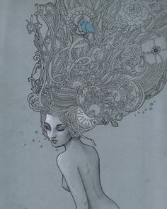 March: a Lot on My Head by ~Lorrain on deviantART:: imagination spreads into infinity Flowers In Hair, Flower Hair, I Am Awesome, Art Pieces, March, Deviantart, Artist, Artwork, Spreads