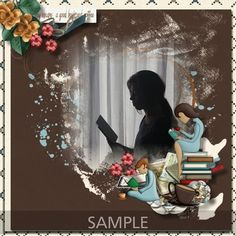 "CT Layout made using Memory Mosaic's ""A Good Book & A Cuppa Joe"" Scrapbooking Layouts, Scrapbook Pages, Digital Scrapbooking, Cuppa Joe, Paper Background, Word Art, Good Books, Mosaic, Memories"