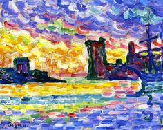The Athenaeum- Marseille. Paul Signac (1863-1935) was a French neo-impressionist painter who, working with Georges Seurat, helped develop the pointillist style. He loved to paint the water. From his various ports of call, Signac brought back vibrant, colorful watercolors, sketched rapidly from nature. From these sketches, he painted large studio canvases that are carefully worked out in small, mosaic-like squares of color, quite different from the tiny, variegated dots previously used by…
