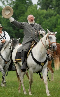 Robert E Lee Civil War re-enactors at Infirmary Mound Park in Granville, Ohio.