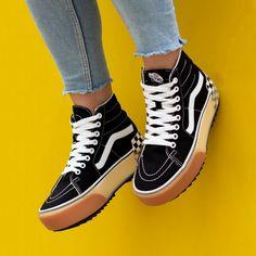 Sk8-hi Vans, Tenis Vans, Vans Shoes, Shoes Sneakers, Vans Men, Tenis Old Skool, Cute Shoes, Me Too Shoes, Platform Vans