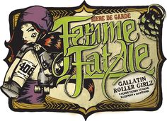 Femme Fatale, illustration for 406 Brewing Co. and Gallatin Roller Girlz