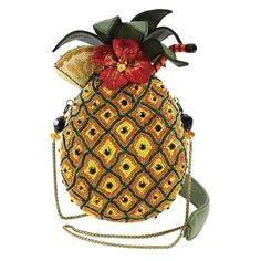937bb81ff8 MARY FRANCES Fun in the Sun Beaded Pineapple Drink Novelty Handbag