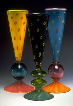 Bubble Vases from Pinkwater Glass, Handblown
