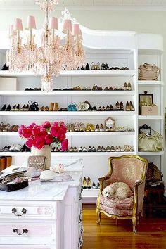 elegant / romantic closet