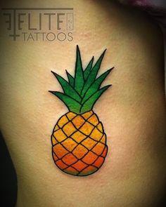 Pineapple #tattoo by Adam Bartley at #eliteinktattoos in #myrtlebeach