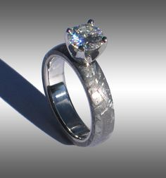 Meteorite-Engagement-Ring-with-Moissanite