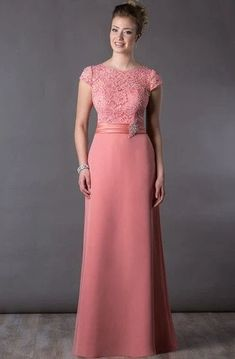 Scoop-neck Cap-sleeve long Jersey Dress With Appliques - Dress Afford Mother Of Groom Dresses, Mothers Dresses, Girls Formal Dresses, Elegant Dresses, Wedding Dresses, Evening Dresses Online, Evening Gowns, Winter Gowns, Applique Dress
