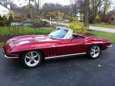 1966 Chevrolet Corvette Convertible. I like the modern ones more.