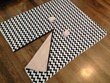 This makes it easy to pattern for car seat blanket