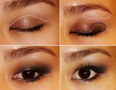 smokey eye for monolid or hooded eye