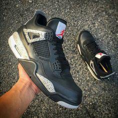 "Air Jordan 4 ""Black Cement Customs"""