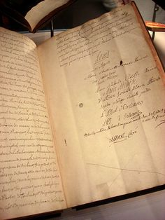 The wedding contract of the future king Louis XVI and Marie Antoinette.