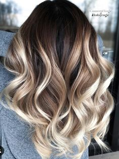 Balayage is the most popular way of dyeing hair in recent years. If you want to try balayage hair, please take a look at our collection of balayage hair color ideas which can bring you new inspiration, try it boldly! Hair Color Balayage, Hair Highlights, Brown Balayage, How To Balayage, Baylage Ombre, Brown To Blonde Ombre Hair, Ombre Hair Color For Brunettes, Balayage Hair Brunette With Blonde, How To Bayalage Hair