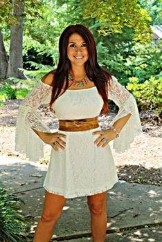 Gone Country Dress Ivory $44.99 #SouthernFriedChics