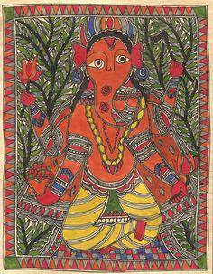 Madhubani Indian Tri