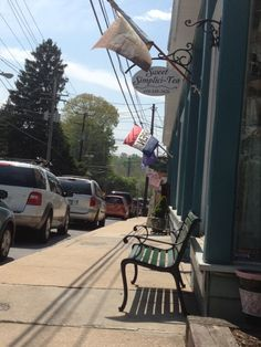 """Sykesville Main Street has a delightful facade, combining the old with the new. Many tiny, unique shops occupy its nooks and crannies, as well as curbside. My favorite is named """"A Likely Story."""" Please don't miss the cozy little tea shop about two blocks up from the book store."""