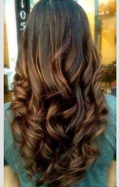 Long wavy hair for wedding