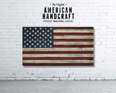 American Flag  Handmade Distressed Wooden by AmericanHandcraft