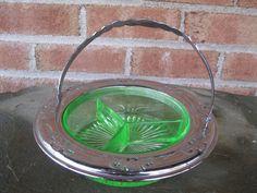 Vintage Farberware Green Depression Glass by GotMilkGlassAndMore, $19.95