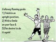 My goals for finishing my first half. I have to remember that I shouldn't place so much emphasis on time my first time.