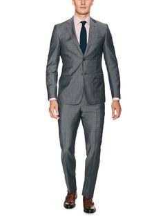 Grey Wool-Mohair Blend Suit