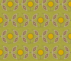 sun and flower linen by holli_zollinger, click to purchase fabric