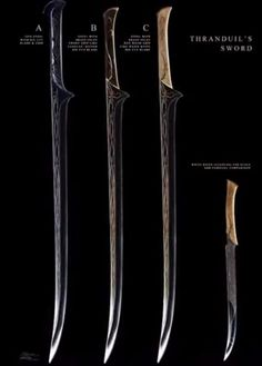 Thranduil sword concept art. Is it sad that I want the full size one? I think not ;)