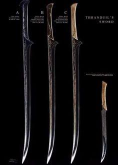 Thranduil sword concept art