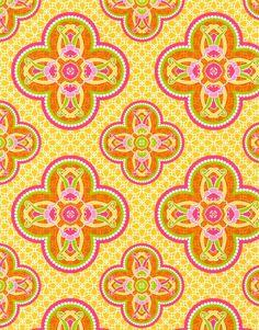 Patty Young Premium Quilt Fabric- Grand Ballroom Orange
