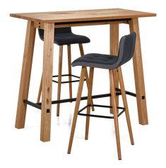 STOCKHOLM-baaripöydässä on tammiviilutettu ja lakattu kansi sekä jalat, runko on lakattua massiivitammea ja maalattua metallia....