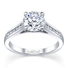 Our Signature Classic Rings - with channel set side diamonds