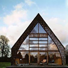 comme une chapelle - maison en bois originale