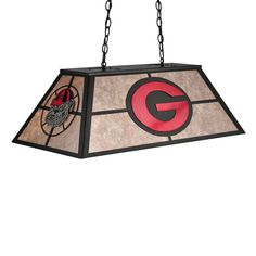 Meyda Tiffany Custom 106370 6 Light Georgia Bulldogs Pool Table Light - Lighting Universe