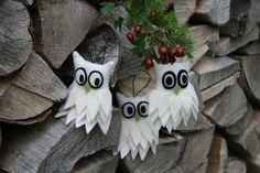 Weihnachtsdeko / Stoffanhänger Schnee-Eule от BogThomHandmade