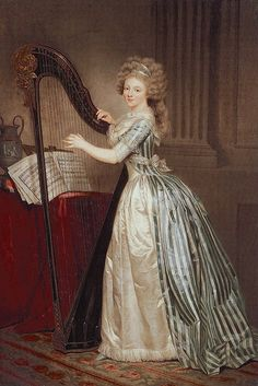 Self-Portrait with a Harp of 1791, in the collection of the Metropolitan Museum of Art Artist: Rose-Adélaïde Ducreux