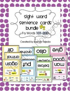 Worksheets Write In Word From 101 To 200 sight word cloze bundle set 2 fry words 101 200 from tejedas tots sentence cards k