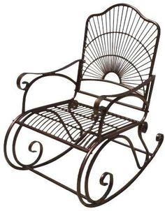 International Caravan Sun Ray Iron Porch Rocker. Matches the swing! #ad #porch #rockingchair #outdoordecor #garden