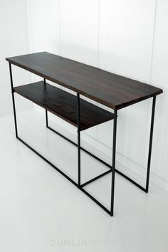Narrow, two-tiered console. Perfect for those small hallways.