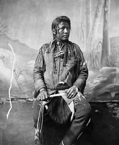 Blackfoot Man with Knife by glenbowmuseum, via Flickr, no name, date, or location...