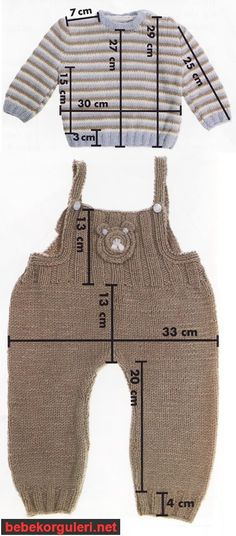 Baby Knitting Patterns Sweaters This Pin was discovered by Mar Baby Knitting Patterns, Knitting For Kids, Knitting Stitches, Baby Outfits, Kids Outfits, Baby Sweaters, Baby Dress, Baby Jumpsuit, Romper
