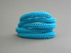 Strickliesel*Armband - *Florence* - Farbe: türkis - Preis: 12,00€